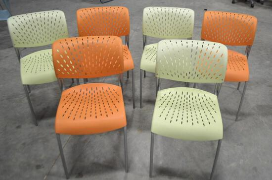 6 Plastic Chairs