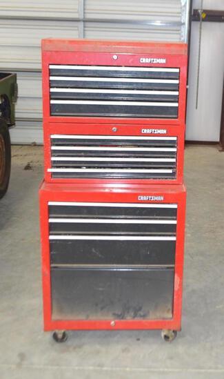 3 Stack Craftsman Tool Box W/Tools