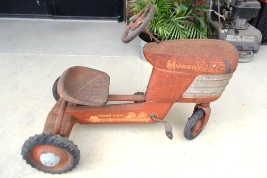 Vintage 1950's Murray Trac Pedal Tractor Turbo Drive