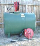 300 Gallon PEE-DEE Oil Tank W/ Pump & Hose Reel
