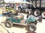 Electric Club Car Golf Cart W/ Work Bed