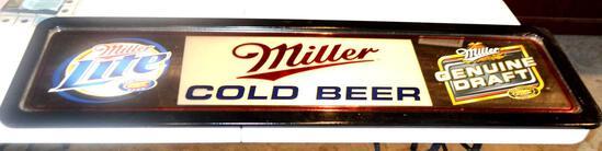 1 Large Miller Beer Sign