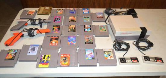 Nintendo Entertainment System W/ 22 Games, 2 Controllers, And 2 Zapper Controllers