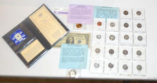 Collection Of Currency, Coins, Legal Tender