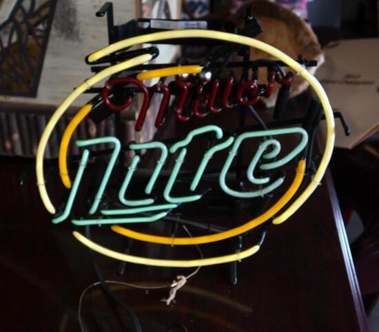 Miller Lite Neon Beer Sign