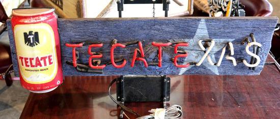 """Tecate """"Tecatexas"""" Neon Beer Sign"""