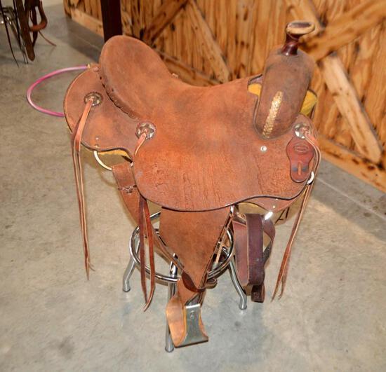 15.5'' Fort Worth Saddle Co. Leather Saddle / Horse Tack