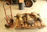 3 Bosch Jack Hammers W/ Custom Dolly