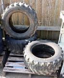 3 Titan Skid Steer Tires 10-16.5 NHS