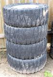 Set Of 4 Nitto 35x12.50r20lt Tires W/Wheels (6Lug)