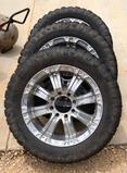 Set Of 4 RBP 20'' Wheels (8lug) W/ 33x 12.50 Tires & Spacers