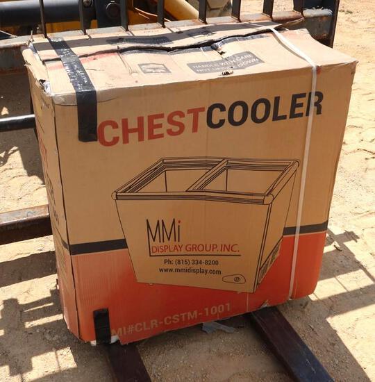 MMI Glass Door Display Chest Cooler