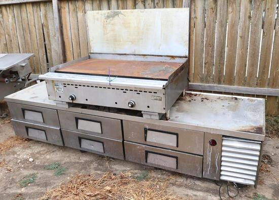 Rankin-Delux Stainless Steel Commercial Griddle & Stainless Steel Commercial 6 Drawer Warmer