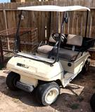 Club Car Golf Cart W/Utility Bed Gasoline Powered - Currently NOT Running