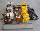 6 Power Team 9582 ModelB HeavyDuty Hydraulic Pumps W/ 8 Stanley Complevel Elevation Measuring System