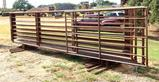 10 Heavy Duty Stand Alone Livestock Pipe Panels 24' Length