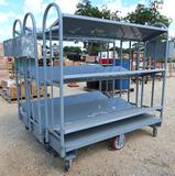 3 Heavy Duty Industrial Rolling Cart and Shelves
