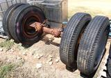 Semi Trailer Axle W/Tires & Wheels