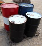 Pallet Of 4 Misc Barrels