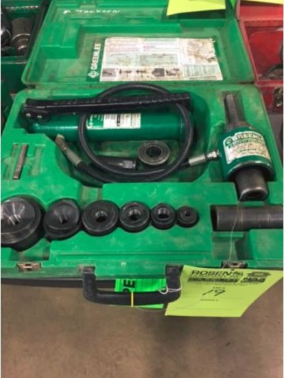 """GreenLee 767 hydraulic 1/2"""" knockout driver set"""