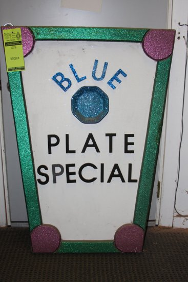 Blue Plate Special Sign