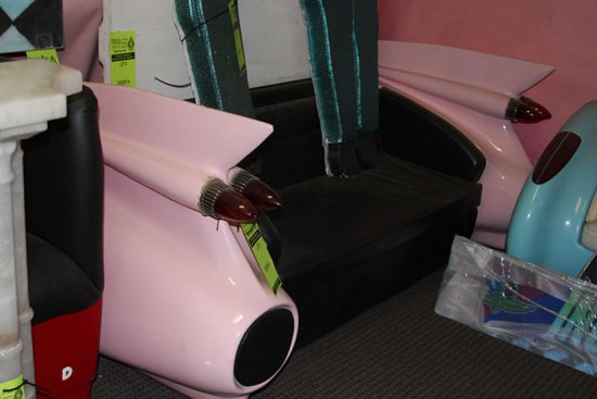 Pink Cadillac Convertible Bench