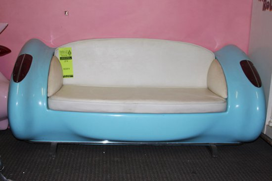 Blue Chevy Couch