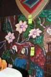 2 Piece Jungle Parrot Background