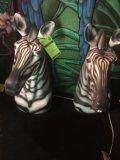 Group of 2 styrofoam Zebra heads