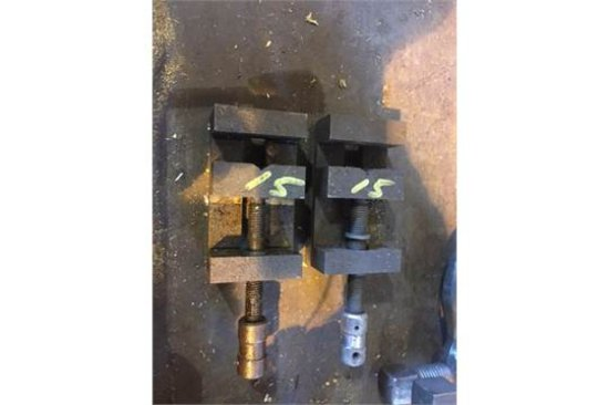 pair of small vises. Hand cranks. No handles