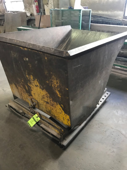 Industrial Tipping Dumpster made to be raised with a forklift and dumped