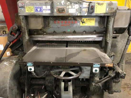 Seybold Sixty Model CFC. Cutting Machine/ Shear Approx 45 inches Cutting Machine