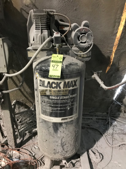 60 Gallon Black Max Single Stage Air Compressor