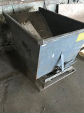Wright Industrial Tipping Dumpster made to be raised with a forklift and dumped