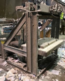 Custom Made Shear made from forklift mast with 5 HP 208- 230/460 3 phase motor