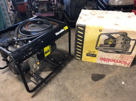 Homelite LR4400 watt has generator. Comes with HD gage cord