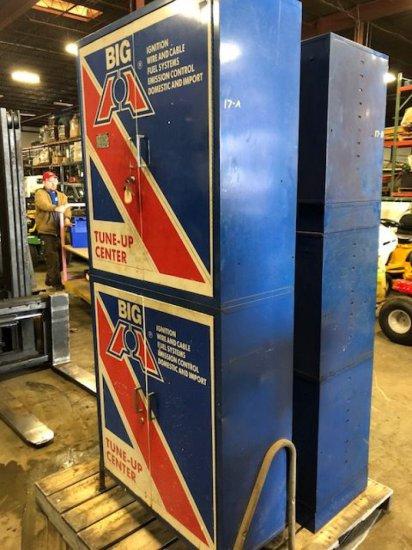 """""""Big A tune up center"""" metal storage locker"""