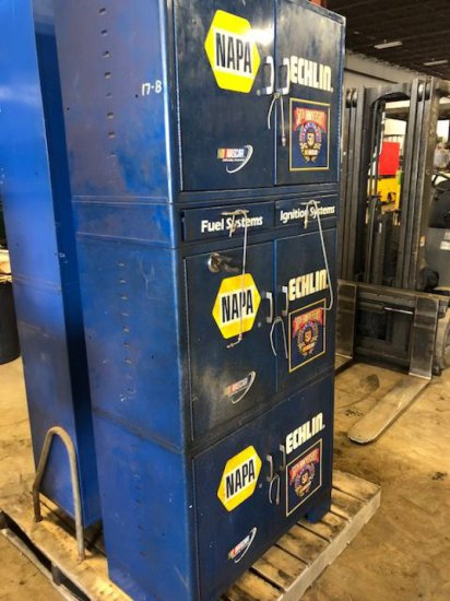 "Napa/Echlin ""NASCAR 50th anniversary"" metal storage locker"
