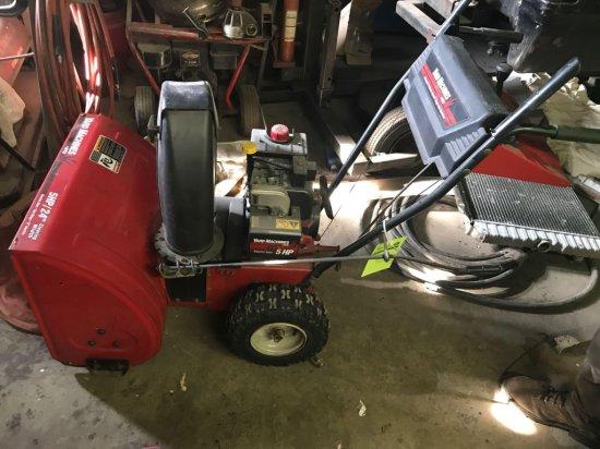 Yard machines 5 hp electric start snowblower