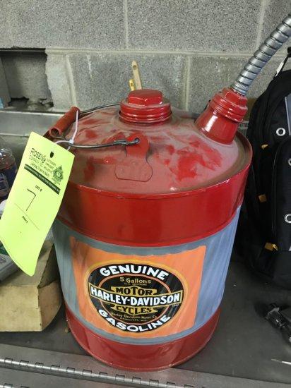 Harley Davidson 5 gallon can