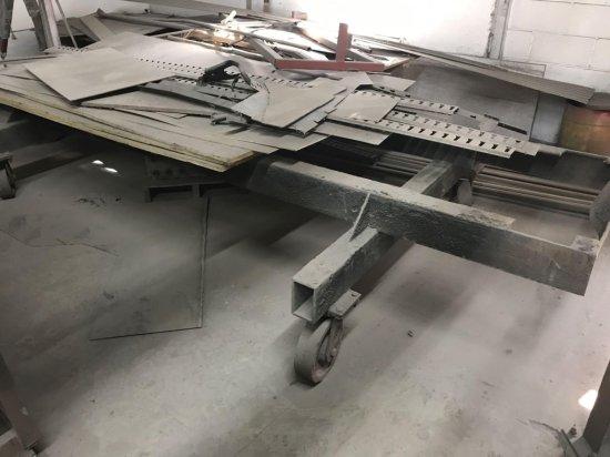 Metal Framed Heavy Duty cart on casters