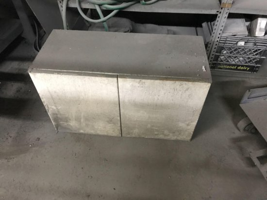 Vintage 2 door metal cabinet