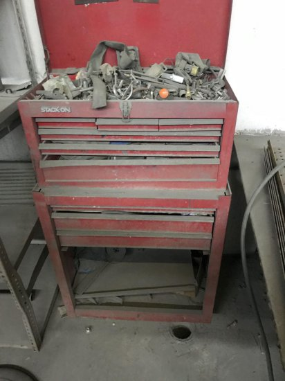 Rollaway Toolbox with misc hardware included