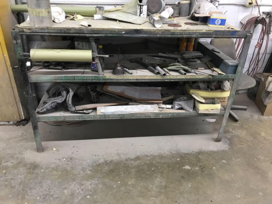 Metal Shelf with wood shelves