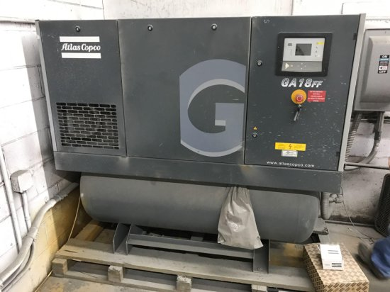 Atlas Copco Rotary Screw Compressor Model GA-18FF
