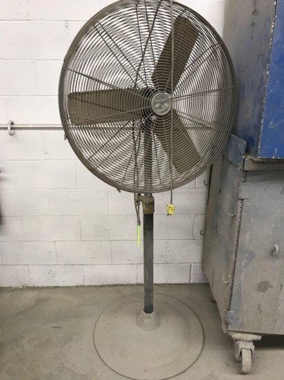 30 inch shop fan on pedestal