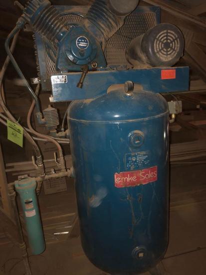GSI (80 gal?) vertical air compressor.