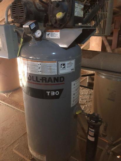 Ingersoll Rand T30 vertical air compressor.