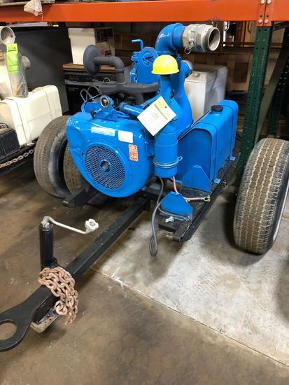 Gorman Rupp 4 in pull behind trash/water pump