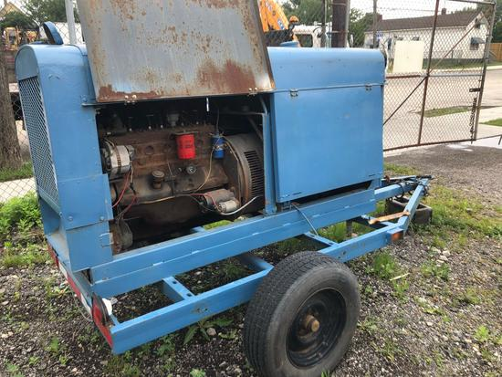Lincoln SAE 300 pull behind DC welder,